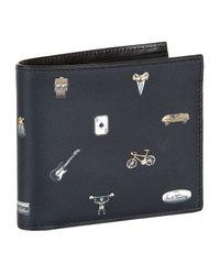 Paul Smith - Black Charm Bifold Wallet for Men - Lyst