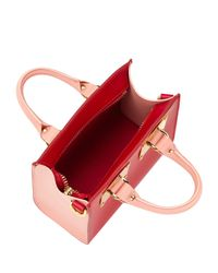 Sophie Hulme - Pink Small Two-tone Albion Box Tote - Lyst