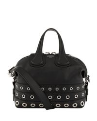 Givenchy Small Nightingale Eyelet Bag in Black - Lyst 1f9964aa18650