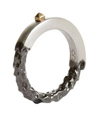 Valentino - Metallic Unfinished Ring - Lyst