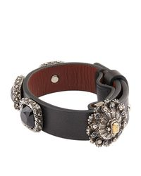 Alexander McQueen - Black Embellished Arm Cuff - Lyst