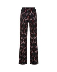 Valentino | Black Love Blade Print Trousers | Lyst