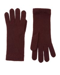 Harrods | Purple Knitted Cashmere Gloves | Lyst