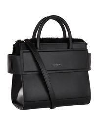 Givenchy - Black Mini Horizon Mink Trim Tote Bag - Lyst