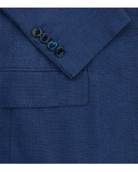 Stefano Ricci | Blue Microcheck Blazer Jacket for Men | Lyst