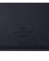 Valentino - Blue Rockstud Card Holder - Lyst