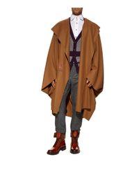 Vivienne Westwood Brown Hooded Overcoat With Side Hooks for men