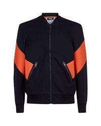 DIESEL Black Orange Side Panel Sweatshirt for men
