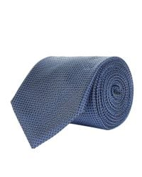 Corneliani - Blue Diagonal Stitch Tie for Men - Lyst