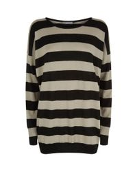 Vince - Natural Wide Stripe Sweater - Lyst