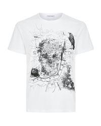 Alexander McQueen | White Skull T-shirt for Men | Lyst