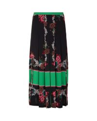 Sandro - Natural Floral Midi Skirt - Lyst