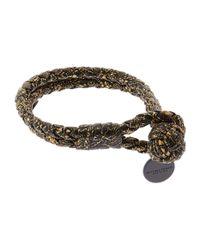 Bottega Veneta - Metallic Intrecciato Double Knot Bracelet - Lyst