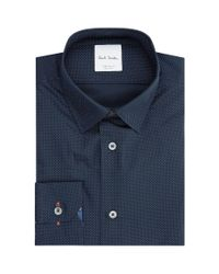 Paul Smith - Blue Pin Dot Formal Shirt for Men - Lyst