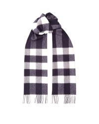 Burberry - Blue Mega Check Scarf for Men - Lyst