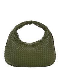 Bottega Veneta | Green Small Intrecciato Veneta Hobo Bag | Lyst