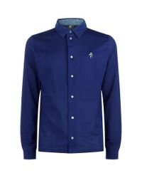Paul Smith - Blue Spaceman Long-sleeved Polo Shirt for Men - Lyst