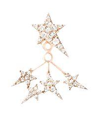 Diane Kordas - White Rose Gold Star Ear Jacket - Lyst