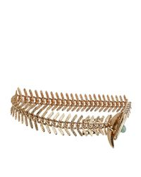 Rosantica - Metallic Fish Bone Anklet - Lyst