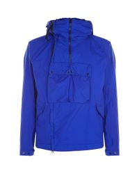C P Company - Blue Nyfoil Pullover Goggle Parka for Men - Lyst