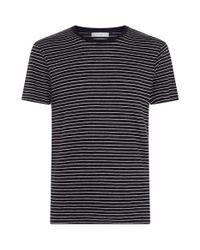 Sandro - Blue Striped T-shirt for Men - Lyst