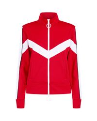e70f93ba95fe Off-White c o Virgil Abloh Striped Track Jacket in Red for Men - Lyst