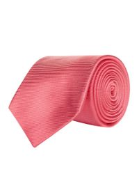 Turnbull & Asser - Pink Woven Twill Tie for Men - Lyst