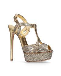 Casadei | Metallic Isabella Platform Sandals 150 | Lyst