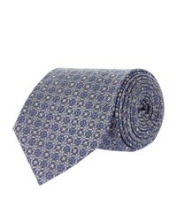 Eton of Sweden - Gray Patterned Tie for Men - Lyst
