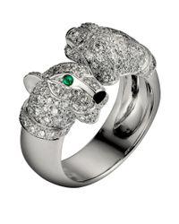 Cartier - Metallic Double Head Panthre De Ring - Lyst