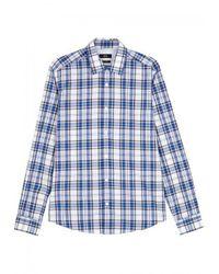 BOSS Black | Blue Lance Checked Cotton Shirt for Men | Lyst