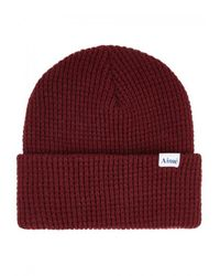 Aimé Leon Dore - Red Burgundy Waffle-knit Beanie for Men - Lyst
