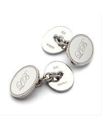 Aspinal - Metallic Hobnail Cufflinks for Men - Lyst