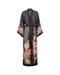 Meng - Black Silk Chiffon Unlined Robe - Lyst