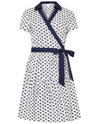 Diane von Furstenberg - Blue Kaley Two Printed Cotton Shirt Dress - Lyst