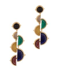 Isharya | Blue Abstract Mughal Gold-plated Earrings | Lyst