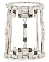 Ca&Lou - White Daisy Swarovski Silver-plated Bracelet - Lyst