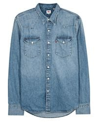 Levi's | Barstow Light Blue Denim Shirt for Men | Lyst