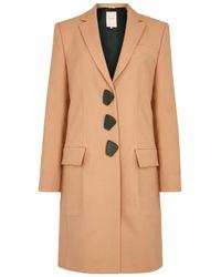 ROKSANDA   Natural Rivera Apricot Wool Coat   Lyst