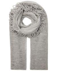 Stella McCartney - Gray Light Grey Shredded Cashmere Blend Scarf - Lyst
