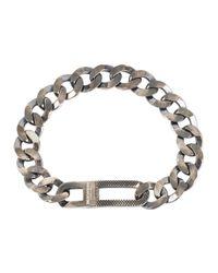 Tateossian | Metallic Grumette Medium Sterling Silver Bracelet for Men | Lyst