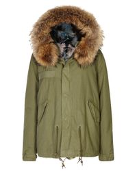 Mr & Mrs Italy | Army Green Fur-lined Cotton Parka | Lyst