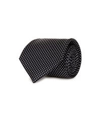 Drake's | Blue Navy Micro-spot Silk Blend Tie for Men | Lyst