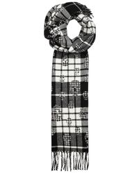 Alexander McQueen | Black Checked Wool And Cashmere Blend Scarf | Lyst
