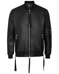 Blood Brother - Shine Black Satin Bomber Jacket - Size L for Men - Lyst