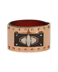 Givenchy | Shark Lock Black Leather Cuff | Lyst