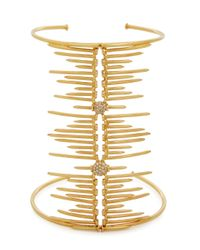 Joanna Laura Constantine   Metallic Screw-embellished Gold-plated Cuff   Lyst