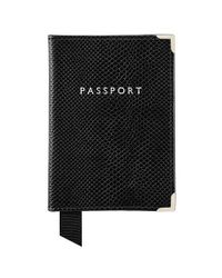 Aspinal - Black The Passport Cover - Lyst