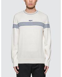 A.P.C. - White Pull Branding Sweater for Men - Lyst