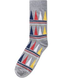 Richer Poorer - Gray Grey Swindler Socks for Men - Lyst
